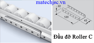 Đầu đỡ roller C GP-C ( Placon support metal C )