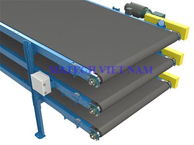Băng tải ba tầng PVC
