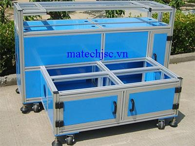 Xe đẩy nhôm định hình xưởng sản xuất điện tử