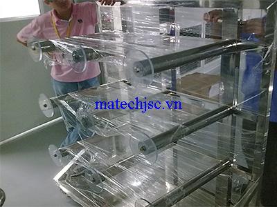 Xe đẩy chuyên dùng phòng sạch để sản phẩm dạng cuộn