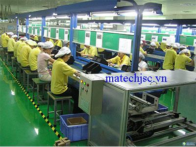 Băng truyền khung thép xưởng lắp ráp điện tử