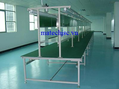 Bàn thao tác dây chuyền sản xuất mặt phủ thảm cao su ESD